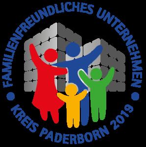 """Gütesiegel """"Familienfreundliches Unternehmen im Kreis Paderborn 2019"""""""