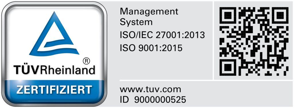 ISO 27001 und ISO 9001 Prüfzeichen BREKOM