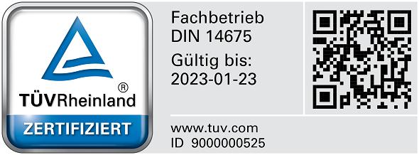 DIN 14675 Prüfzeichen BREKOM