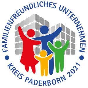 Logo familienfreundliches Unternehmen Kreis Paderborn 2021
